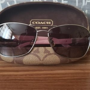 Authentic Coach Aviator Sunglasses